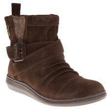 New Womens Rocket Dog Brown Mint Suede Boots Ankle Buckle Pull On