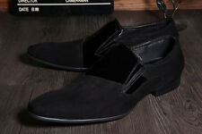 Men REAL Cowhide Leather Wing Tip Casual Formal Dress Shoes Business Glossy