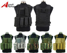 Military Police Tactical Hunting Molle Plate Carrier Vest w/ Magazine Pouch Bag