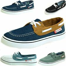 Men's Antigua Boat Shoes by Alpine Swiss Lace up Deck Moccasin Oxfords Sneakers