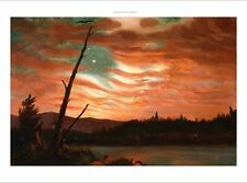 """FREDERIC EDWIN CHURCH """"Our Banner In The Sky"""" CANVAS! various SIZES, BRAND NEW"""