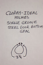 BOTTOM SEAL FOR CLOPAY STEEL GARAGE DOORS WITH  SINGLE