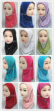 New Style 2 Layer Children Kids Muslim Hijab Islamic Scarf Shawls