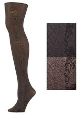 New Yelete Killer Legs Pantyhose Tights In Diamond Pattern & Side Floral Design.