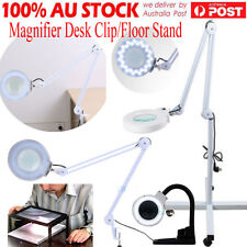 5X Beauty Salon Jewelry Reading Rolling Floor/ Desk Clamp Magnifier Lamp Light