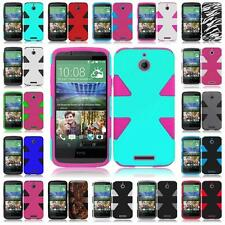 For HTC Desire 510 Dynamic Slim Tuff Armor Dual Hybrid Cover Case + Screen Guard