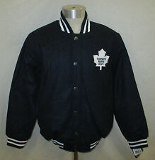 Toronto Maple Leafs Men's Embroidered Wool Jacket with Snaps