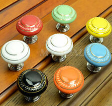 Retro Furniture Ceramic Door Knobs Cabinet Drawer Cupboard Kitchen Pull Handle