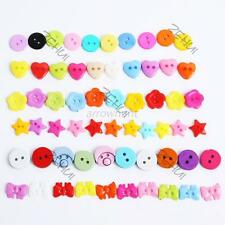 Hot 100pcs Various Color Buttons Sewing DIY Craft Decor Clothing Accessories A18