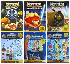 ANGRY BIRDS - Range of Colouring & Sticker Books/Sets (Birthday/Christmas Gift)