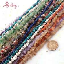 "3-5MM&4-7MM FREEFORM CHIPS NATURAL STONE GEMSTONE BEADS STRAND 15"" PICK MATERIAL"
