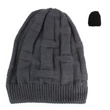 Mens Womens Baggy Knit Beanie Winter Hat Ski Cap Skull Slouchy Chic UPick SZ