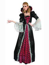 Adult Victorian Vampiress Fancy Dress Costume Vampire Halloween Gothic Ladies