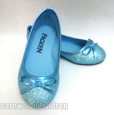 New Frozen Blue Elsa Princess Cosplay Shoes Girls Kids Shoes US10-13 1 2