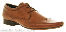 H By Hudson Mens Tan Ellington Classic Pointed Lace Up Formal Shoes 6 40