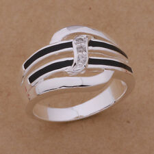 beautiful Fashion 925 Sterling silver plated Classic Cute Lady Women Ring AR925