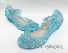 New Frozen Blue Elsa Princess Cosplay Shoes Girls Kids Shoes US 10 11 12 13 1 2