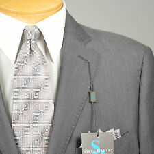 42R STEVE HARVEY  2B Gray SUIT SEPARATE  42 Regular Mens Suits - SS20