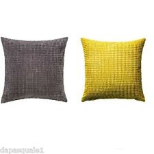 IKEA GULLKLOCKA - Pillow Cushion Cover Chenille Fabric Gray or Yellow 20 x 20
