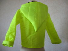NEW COOL  Baby Girls,Black,Yellow Quilted,Punk,Goth,Street, Pixie Hoodie Jacket