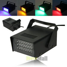 Mini DJ Strobe Light Flash Light 24LED Bulb Club Stage Light Party Disco 5 color