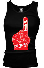 #1 Number One Grandma Family Birthday Present Gift Idea Boy Beater Tank Top