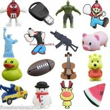 Mario/Pig/Bear/Duck/Guitar/Key USB 2.0 Memory Stick Flash pen Drive 4G-32GB P592