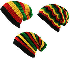 RASTA Reggae Oversized Slouch Pull On Knitted Beanie Cap Hat