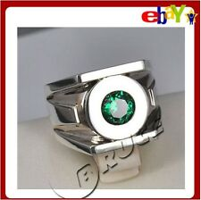 Green Lantern Emerald 925 Silver Ring Approx 11G (US size from 7-13)
