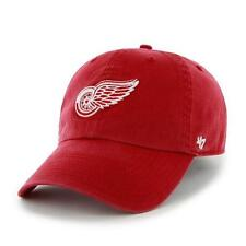 Detroit Red Wings 47 Brand Franchise Fitted Hat NHL Baseball Cap Red Large NEW
