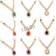 Noble Women's 14k Gold Filled Necklace Pendant Chain Jewelry Wedding Free Ship