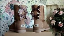 WOMENS UGG AUSTRALIA BAILEY BOW CHESTNUT UGG BOOTS # 1002954 SIZES 6 7 8 9 10