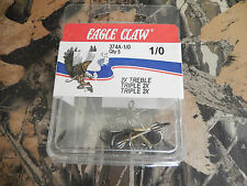 2xTreble Hooks Eagle Claw Bronze Size 1/0, 2/0, 3/0, 2, Or 12 QTY: 5 Select Size