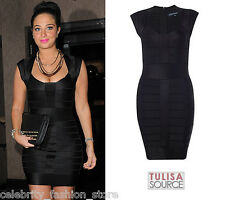 French Connection Black Bandage Ribbon Knits Spotlight Bodycon Party Dress 8 36