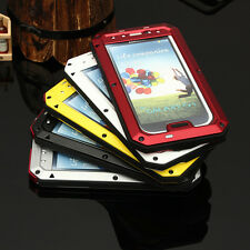Gorilla Glass Aluminum Metal Case Cover For Samsung Galaxy S4 i9500 Waterproof