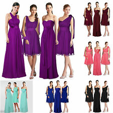 Party Dress Convertible Multi Wear Bridesmaid Formal Wedding Size 4-16