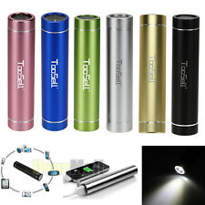 3000mAh Backup External Battery USB Power Bank Charger for Cell Phone w/ torch