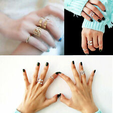 3pcs Midi Finger Ring Set Silver Gold Stack Above Knuckle Band Cute Gift Rings