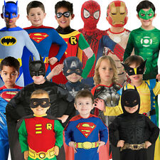 Child Classic Superhero Fancy Dress Costume Superheroes Kids New Outfit Jumpsuit