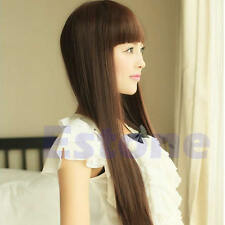 Vogue Style Fashion Cute Long Straight Women Girl Full Hair Wig Cosplay New