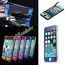 Front Tempered Glass Mirror Screen Protector Electroplating New For iPhone 5 5S