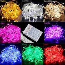 2m/3m/4m/5m/10m Battery Powered Led String Fairy Lights Xmas Tree Garden Party