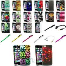 Colorful Rubberized Case+Clip Stylus+Matte SP+Splitter For iPhone 6 Plus 5.5