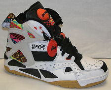 Reebok Blacktop Battleground Tribal Mens Shoe White/Blk/Electro Pink NEW M43284