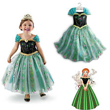 Christmas gift Girls Kids Ice Queen Costume Princess Party Fancy Dresses clothes