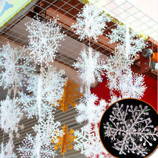 Christmas Tree ornaments Decorations ,30PCS  Glitter White Snowflakes