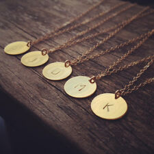Initial necklace personalized Disc Charm Custom Letter friendship Jewelry Gift
