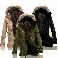 Mens New Winter Warm Fleece Parka Dreadnought Trench Jacket Duffle Coat 3 Color