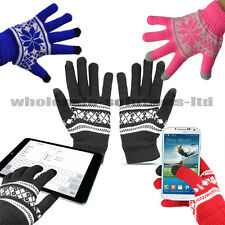 Womens Christmas Xmas Touch Screen Mobile Warm Gloves iPhone Winter Ladies Magic