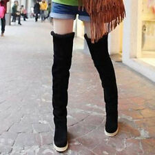 SALE Women's Fashion Over the Knee Warm Winter Thigh High Long Boots Flat Heel